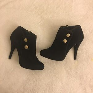 Guess Suede Leather Ankle Boots